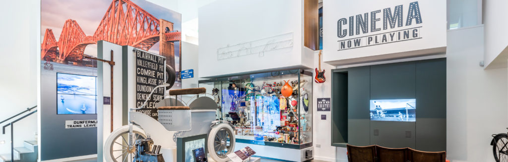 Room in DCLG museum showing toys and transport objects